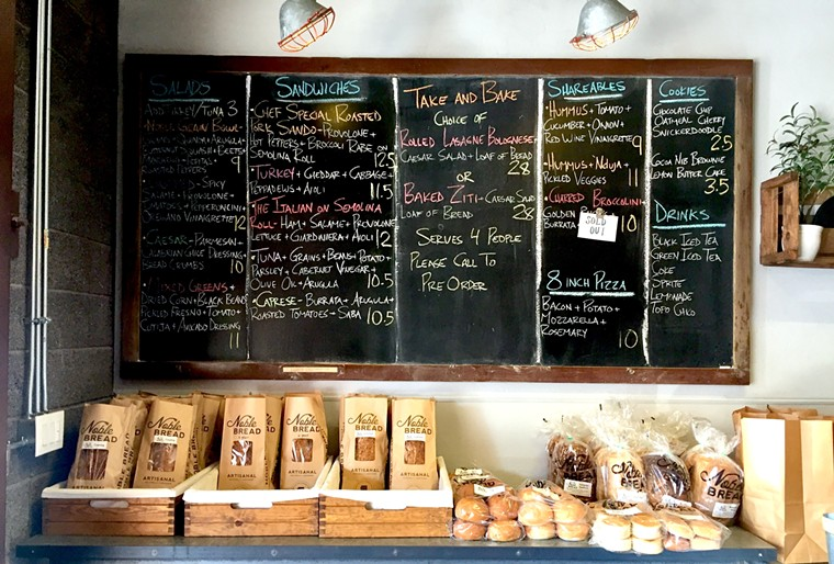 Grab a loaf of bread with your lunch order at Noble Eatery. - ALLISON YOUNG