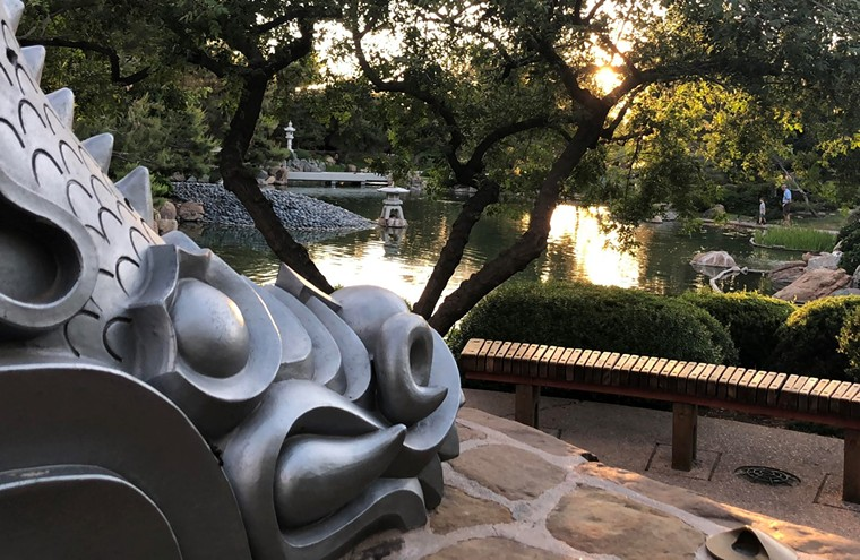 The sun sets at the Japanese Friendship Garden. - JENNIFER GOLDBERG