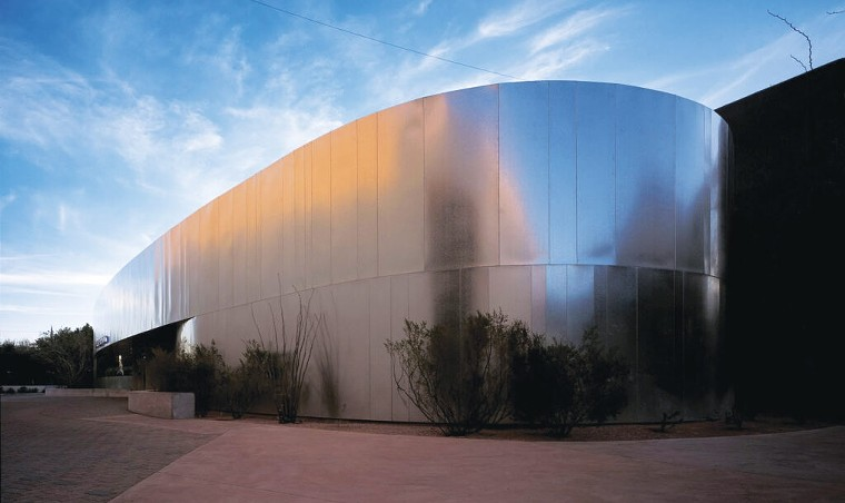 The exterior of the Scottsdale Museum of Contemporary Art. - SMOCA