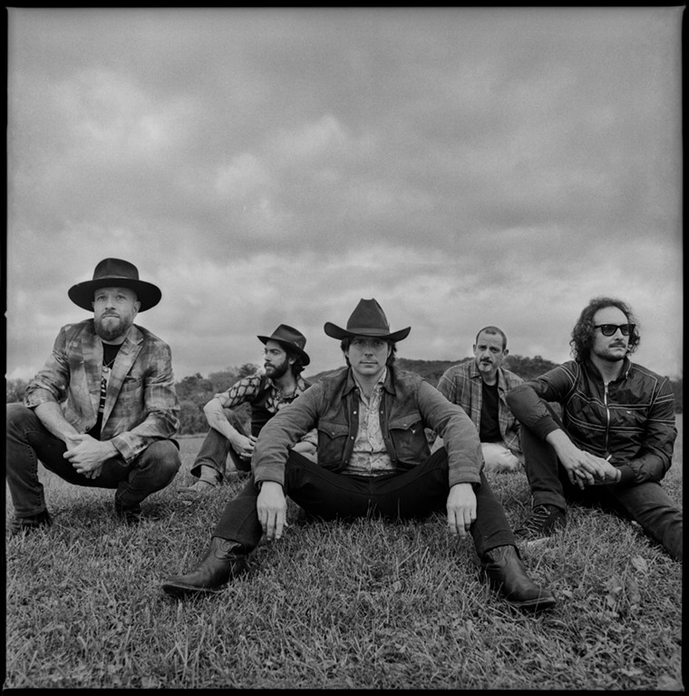 Lukas Nelson with members of backing band Promise of the Real. - ALYSSE GAFKJEN