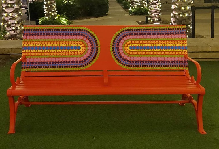 Look for benches with designs by local artists coming soon to Scottsdale Quarter. - KYLLAN MANEY