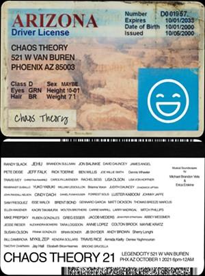 "This year's ""Chaos Theory"" invitation. - RANDY SLACK"