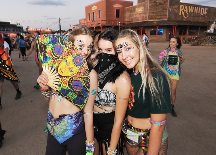 EDM fans were out in force at Goldrush Music Festival 2019. - BENJAMIN LEATHERMAN