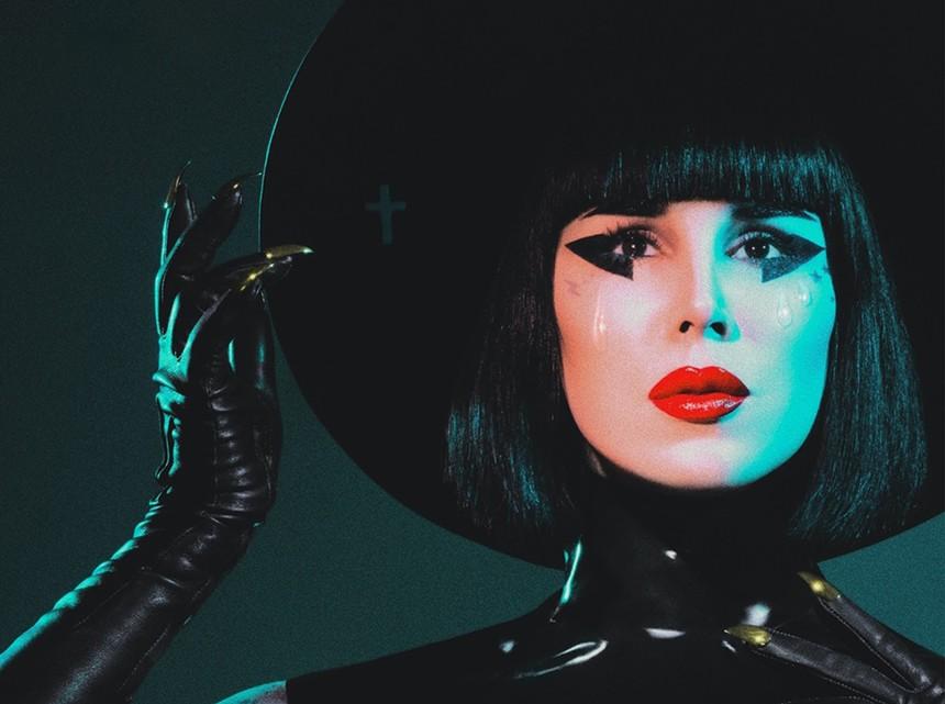 Kat Von D brings her unique brand of goth pop to The Van Buren on Monday, September 27, 2021. - TRAVIS SHINN