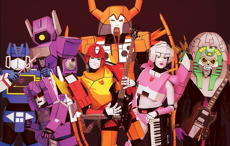 The Cybertronic Spree bring their robot rock to The Rebel Lounge this month. - THE CYBERTRONIC SPREE
