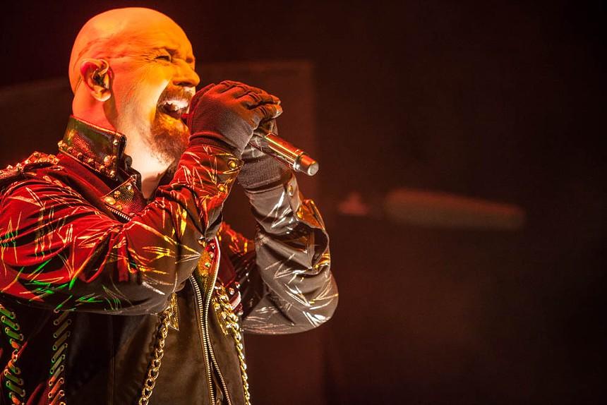 Rob Halford of Judas Priest. - JIM LOUVAU