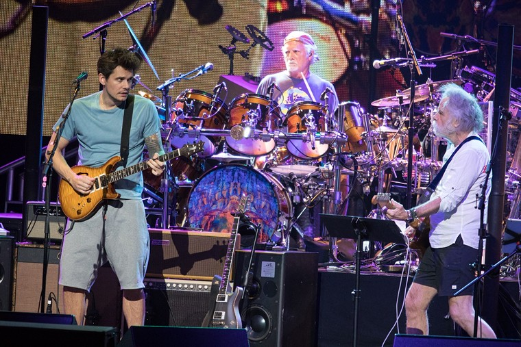 Dead and Company during a 2017 concert in Phoenix. - JIM LOUVAU