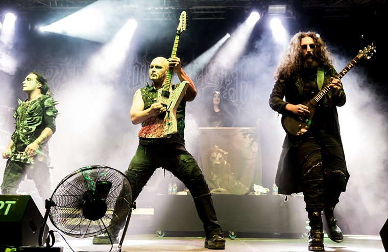 Cradle of Filth at a 2018 show. - S. BOLLMANN/WIKIMEDIA