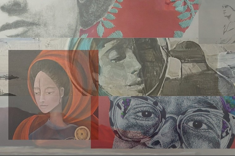 """See works by several artists in """"Faces and Identities"""" at 9 The Gallery. - 9 THE GALLERY"""