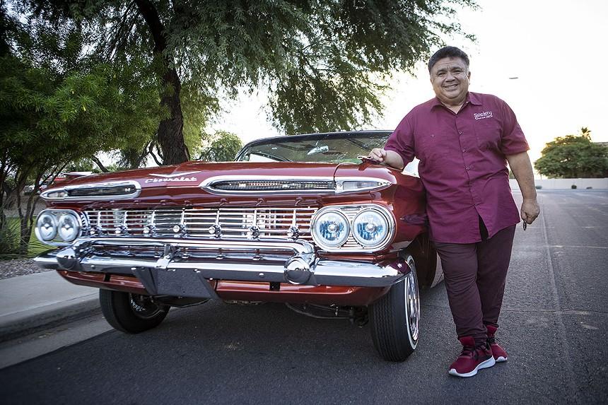 Richard Ochoa and his sweet 1959 Impala. - ZEE PERALTA