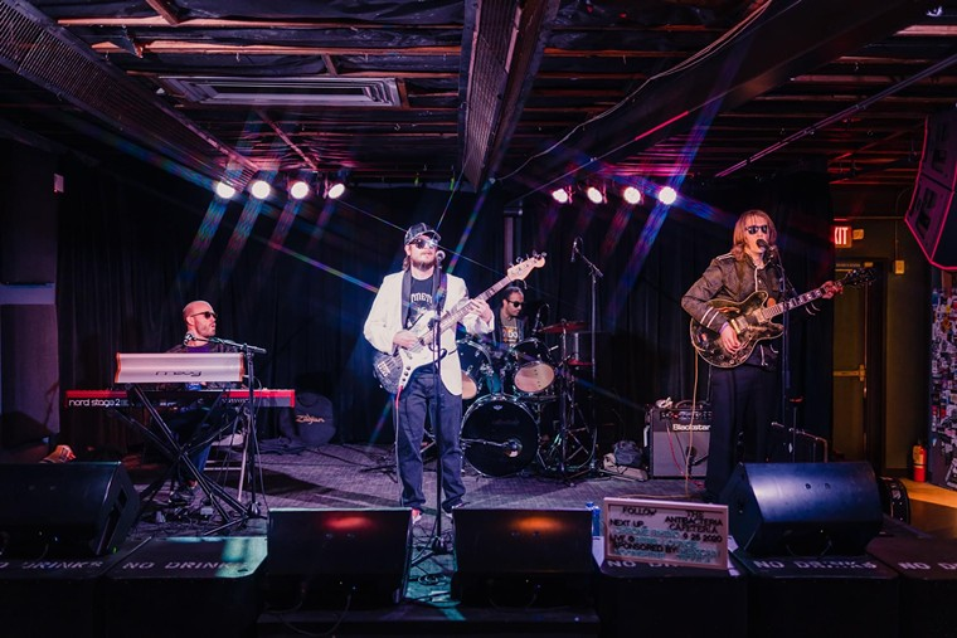 Chrome Rhino performance during the last gig.  - Neil Schwartz Photography