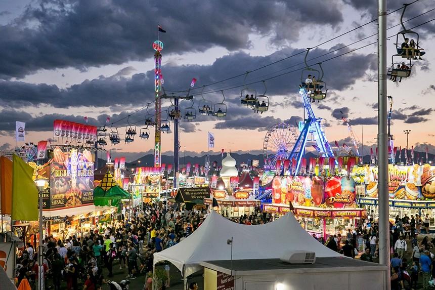 The midway at the Arizona State Fair. - MELISSA FOSSUM
