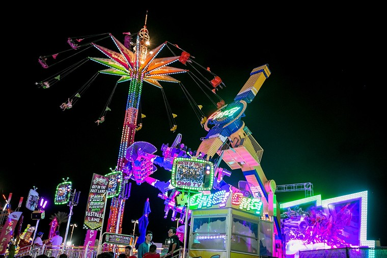 The Flying Dutchman and OMG thrill rides at the fair. - MELISSA FOSSUM