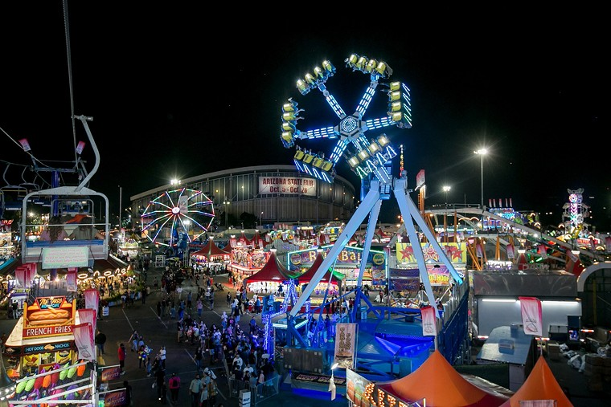 The scene at the Arizona State Fair in 2018. - MELISSA FOSSUM