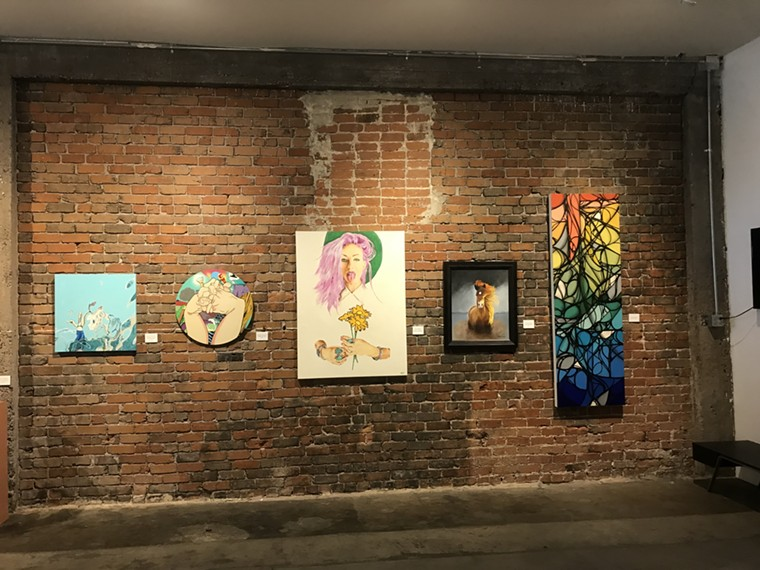"""Installation view of """"Chaos Theory"""" at Legend City Studios. - LYNN TRIMBLE"""
