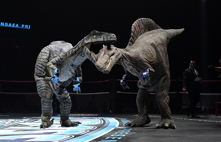 Saurian smackdowns await at Jurassic Fight Night. - GILA RIVER ARENA