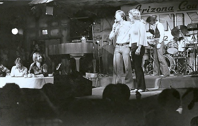 A KNIX-sponsored event at Mr. Lucky's in the early '80s. - COURTESY OF JIM WEST