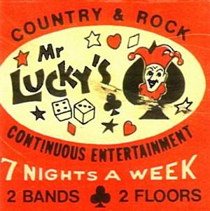 Artwork from an early Mr. Lucky's matchbook. - DOUGLAS TOWNE