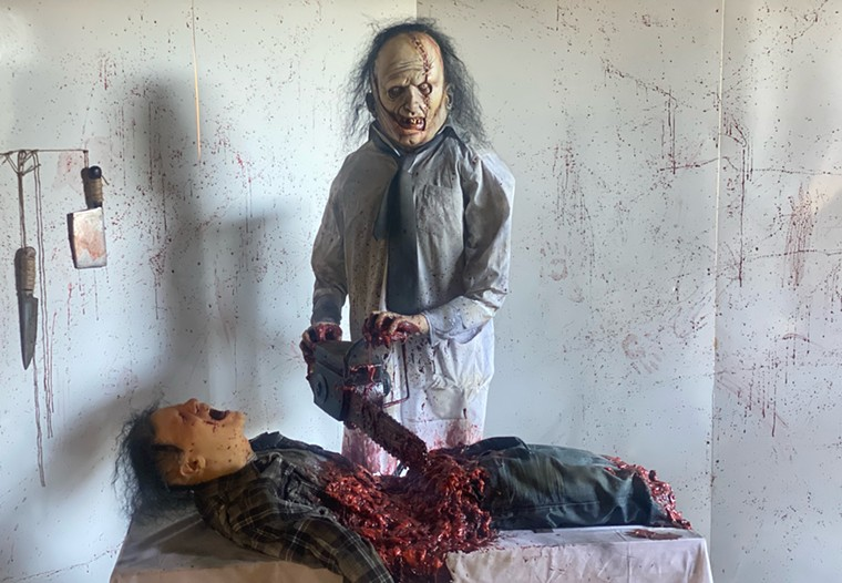 One of the creepy scenes at the Halloween House of Queen Creek. - COURTNEY AND JASON MYERS