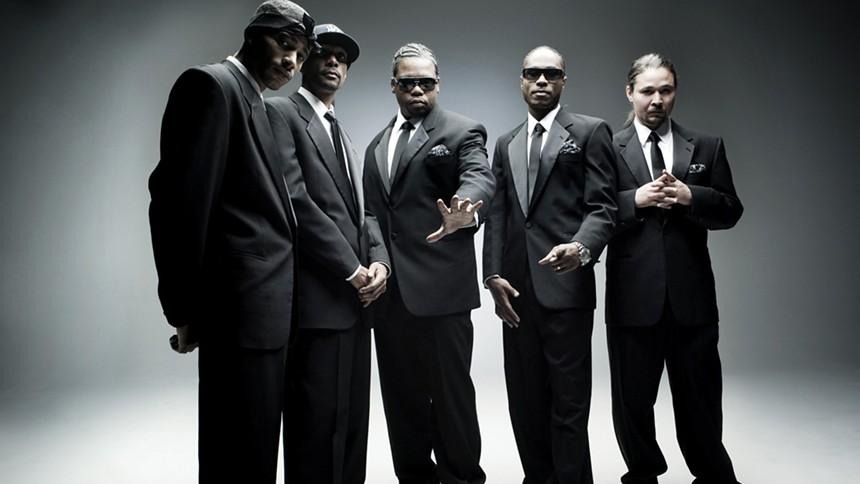 Hip-hop legends Bone Thugs-N-Harmony. - COURTESY OF LUCKYMAN CONCERTS