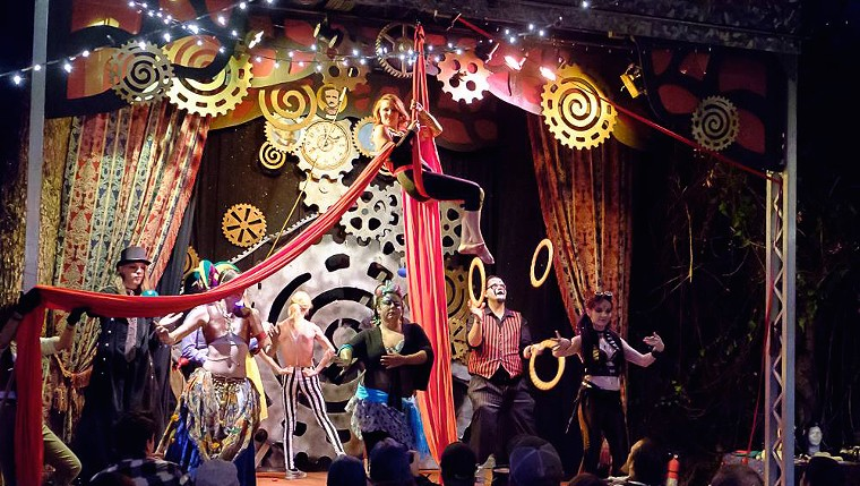 Alwun House goes cirque. - RICK MEINECKE/LIGHTSVIEWPHOTO.COM