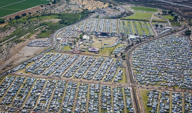 An aerial view of Country Thunder. - LEAVITT WELLS