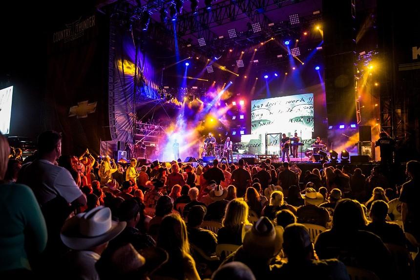 The main stage at Country Thunder Arizona. - LEAVITT WELLS