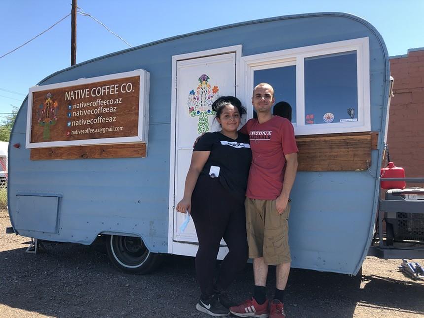Brittany Martinez-Chavez and Raul Chavez, proprietors of Native Coffee Co. - CHRIS MALLOY