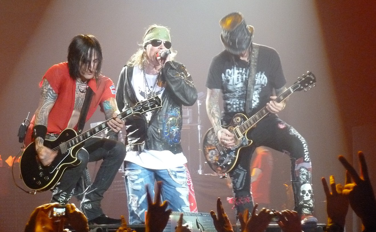 Axl Rose and the other members of GN'R will invade downtown Phoenix this summer.