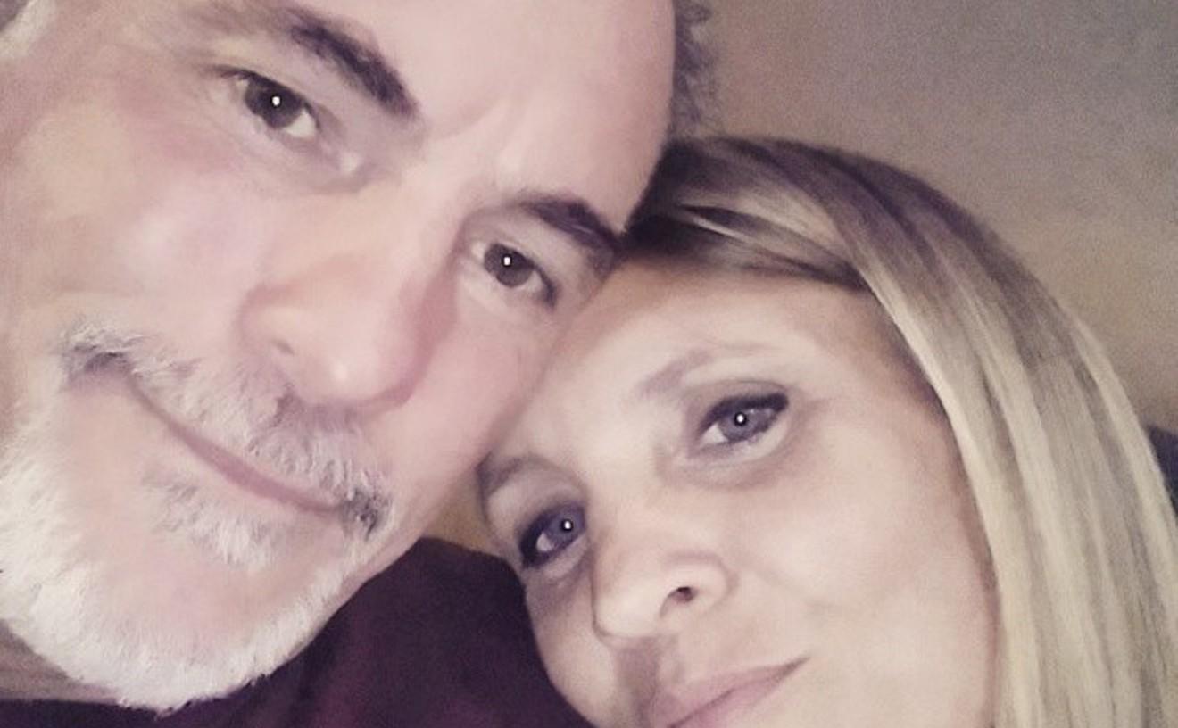 Pamela Cooper and her husband.