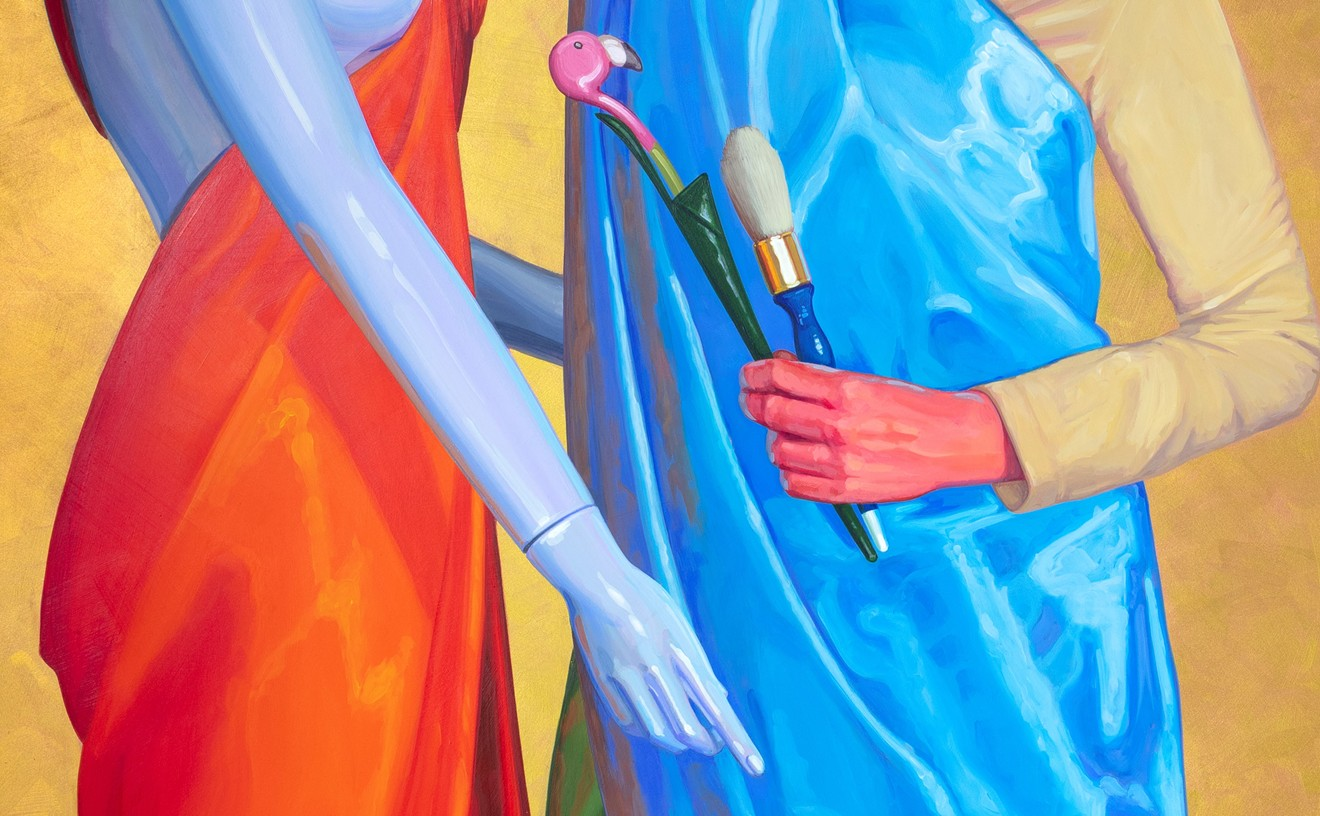 Lucretia Torva's Artist as Saint  (detail shown here) was not selected for the Artlink juried exhibition in 2021, but you can see it at The Icehouse.