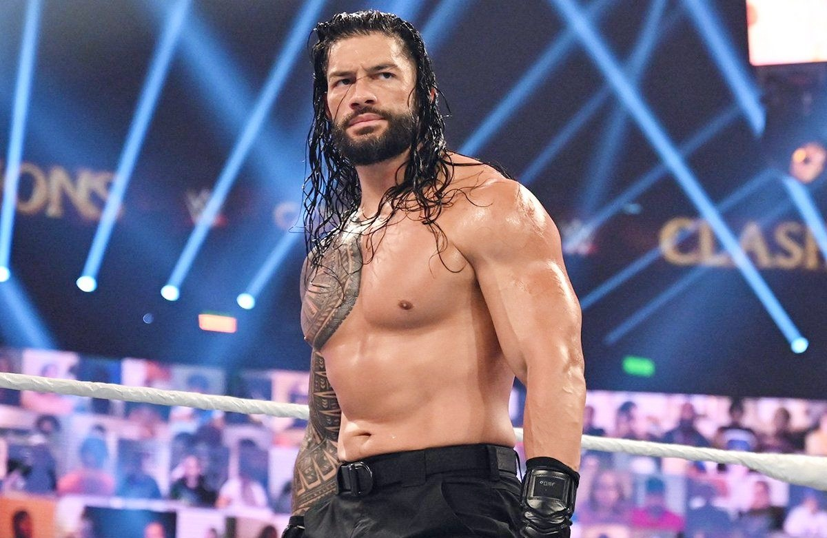 Roman Reigns, one of the current stars of WWE Friday Night SmackDown.