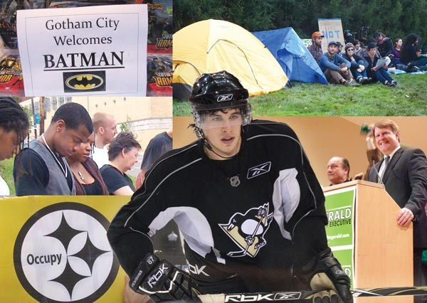 2011 featured a wide-array of stories including the local filming of the new Batman movie, the arrival of the Occupy movement, the election of Rich Fitzgerald as county executive, a decision in the case of Jordan Miles and the ongoing concussion drama of Sidney Crosby - PHOTOS BY CITY PAPER STAFF