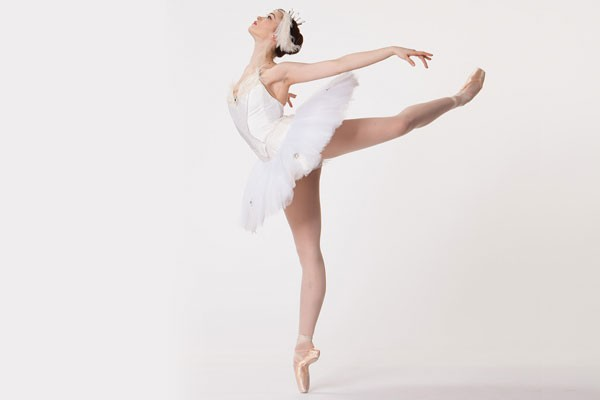 A dancer as the white swan from Swan Lake