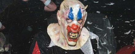 A demonic, feather-tossing clown. - HEATHER MULL