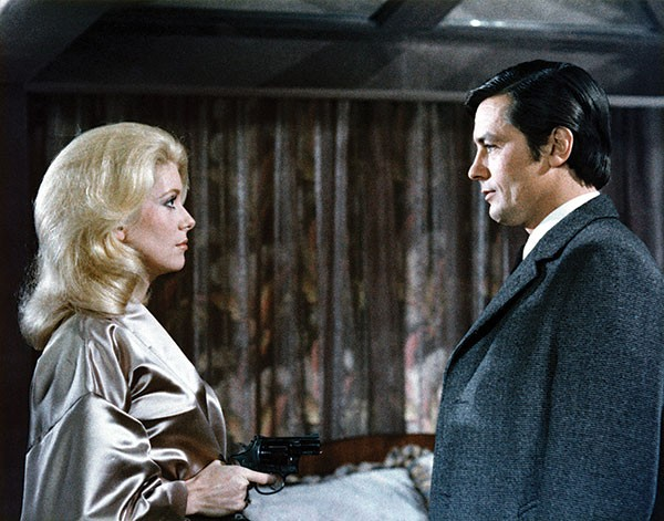 A girl, a guy and a gun: Catherine Deneuve and Alain Delon
