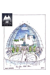 A June 2002 conception of a preserved and re-used Mellon Arena (courtesy of Rob Pfaffmann).</