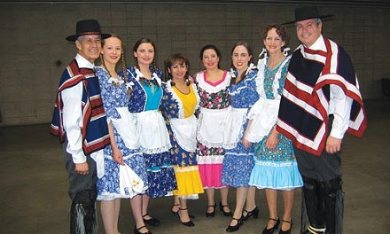 A public face: Copihue shows off traditional Chilean garb. - COURTESY OF EMILY PINKERTON