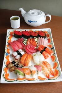 A selection of sushi at Hokkaido Seafood Buffet