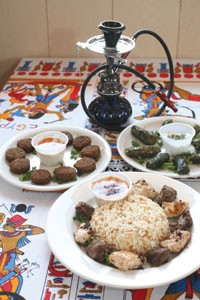 A table set for a king: assorted Egyptian fare