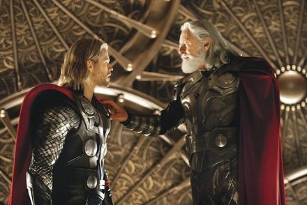 A talk with dad: Chris Hemsworth and Anthony Hopkins