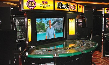 A video blackjack table - CHARLIE DEITCH