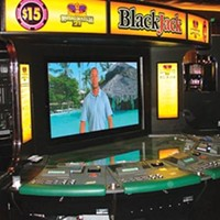 A video blackjack table