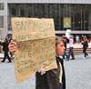About 100 occupiers turned out for an Oct. 19 protest outside BNY Mellon, Occupy Pittsburgh's largest rally to date.
