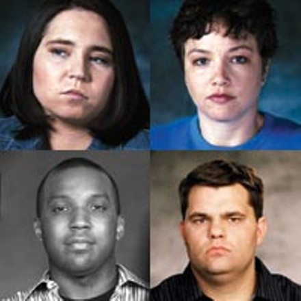 Abu Ghraib crew: (clockwise from top left) Lynndie England, Sabrina Harman, Jeremy Sivits and Javal Davis
