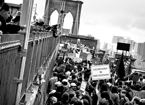 """Actions like the """"Occupy Wall Street"""" invasion of the Brooklyn Bridge have sparked groups across the nation to get involved. Whether Pittsburgh's event reaches these heights remains to be seen. - PHOTO BY BEN VALENTINE"""