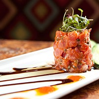 Lucca Ahi tuna tartare tower Photo by Heather Mull