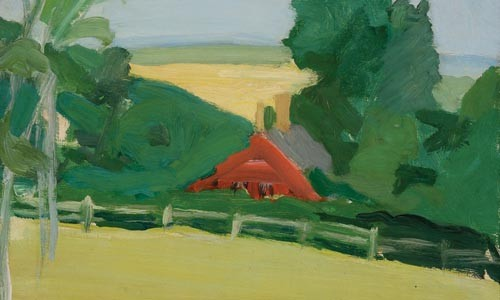 "Alex Katz's ""Untitled (Landscape)"" - IMAGE COURTESY OF THE PARRISH ART MUSEUM"