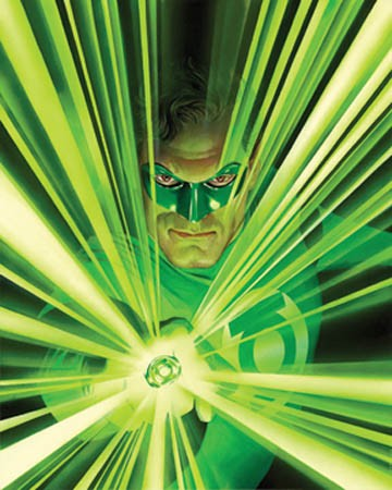 Alex Ross draws Green Lantern.