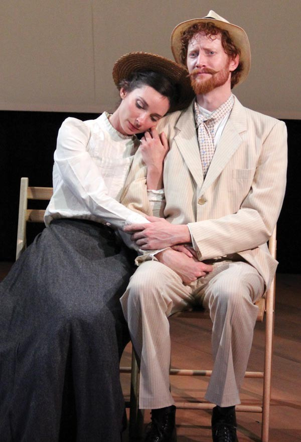 "Allison McLemore and Jonathan Visser in PICT's ""The Yalta Game.&quot"